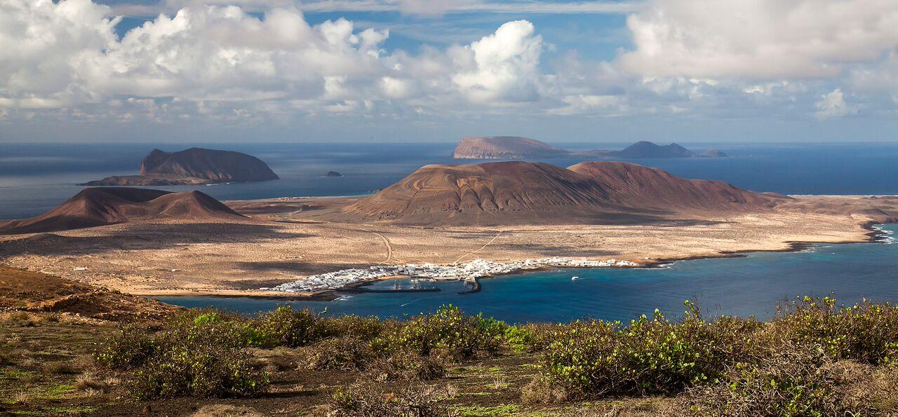 vista panoramica archipiélago chinijo y la graciosa desde lanzarote