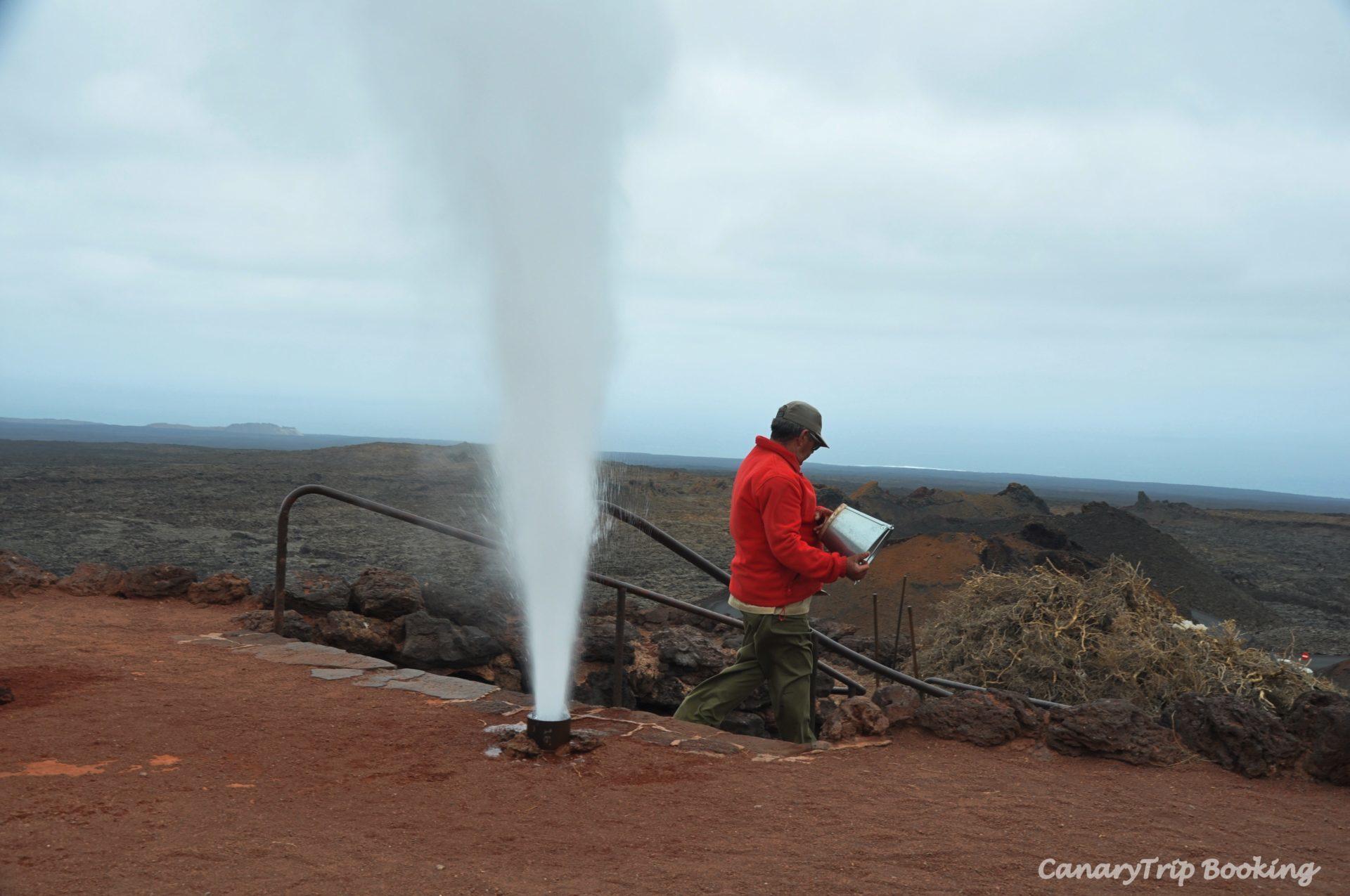 Demostraciones geotérmicas Timanfaya ruta de los volcanes